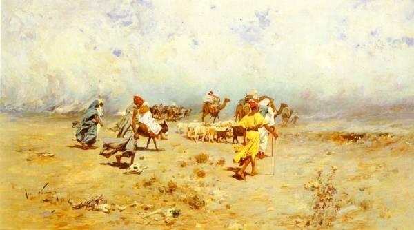 An Arab Caravan On the Move